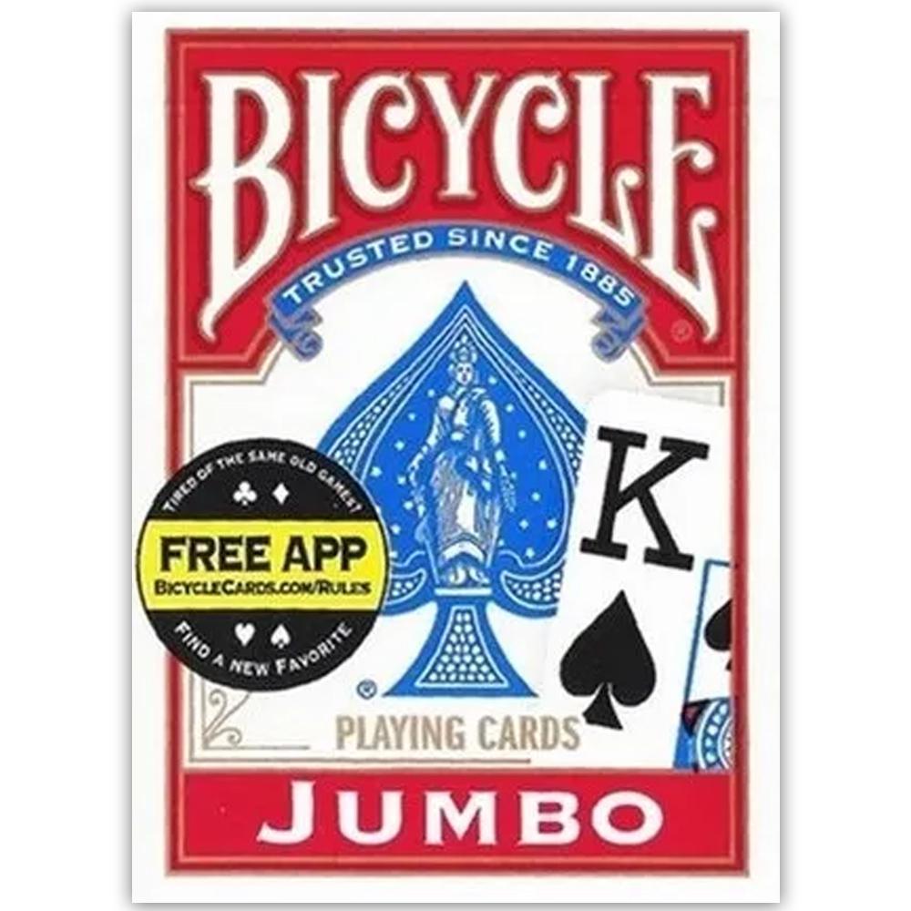 Baralho Bicycle  Jumbo Vermelho