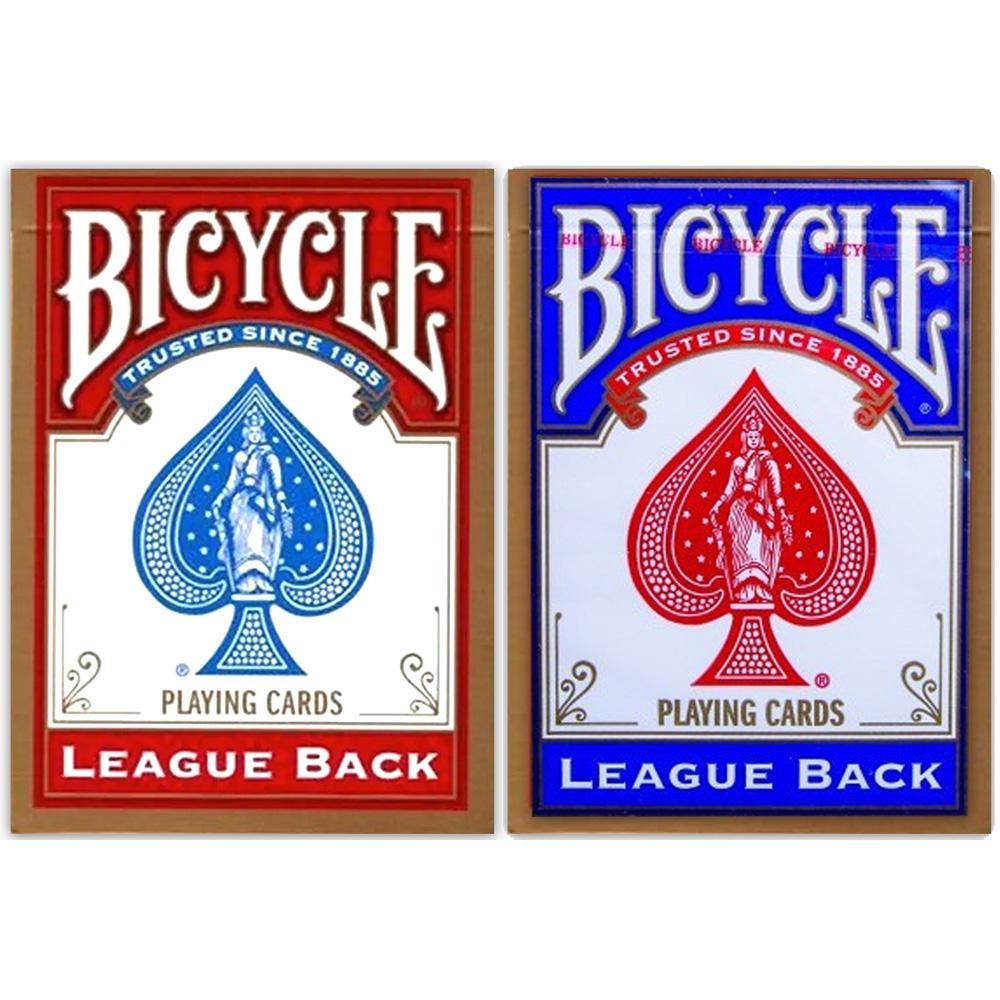 Baralho Bicycle League Back Azul - League Back Vermelho ( Kit com 2 Baralhos )