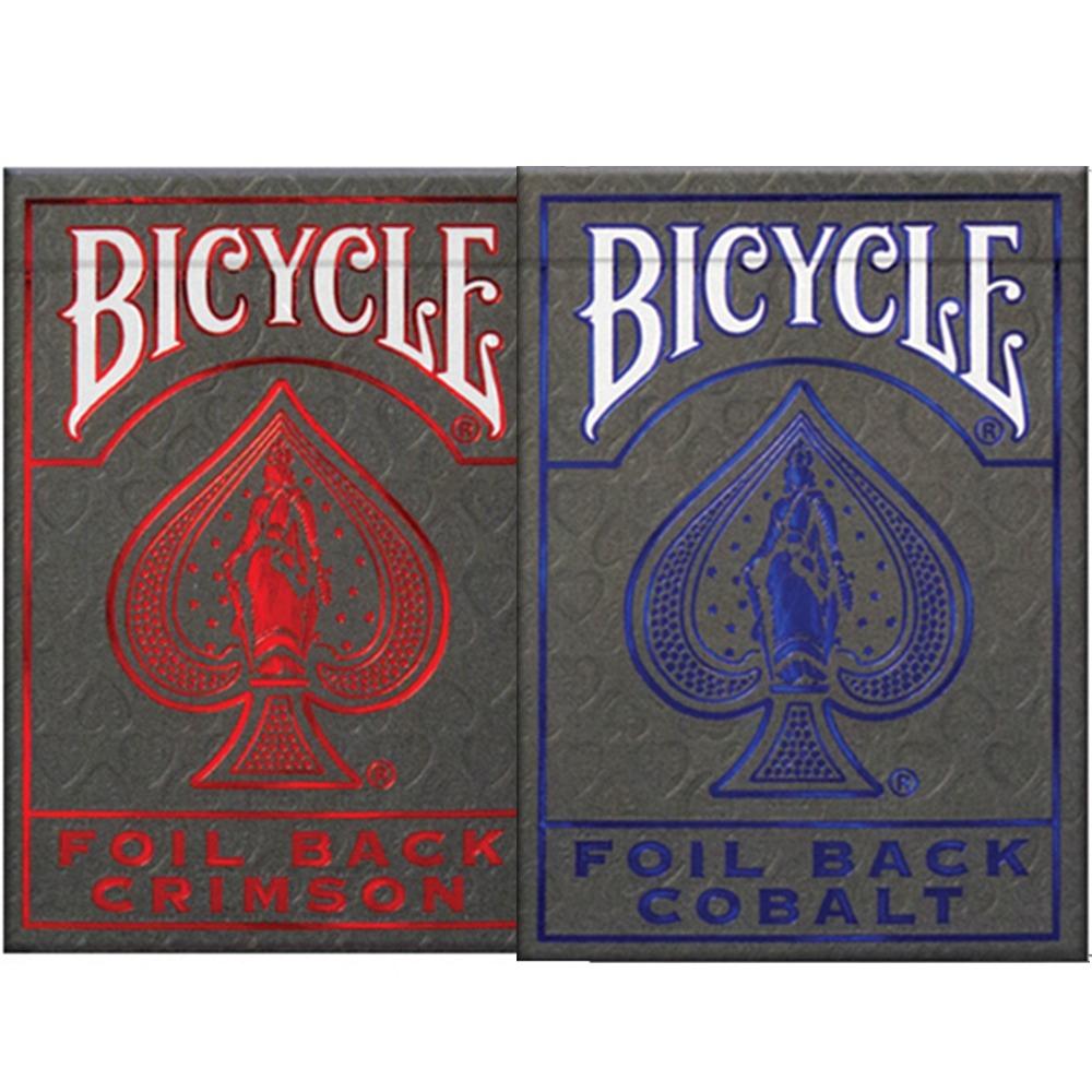 Baralho Bicycle MetalLuxe Cobalt e Crimson (Combo com 2 unidades )