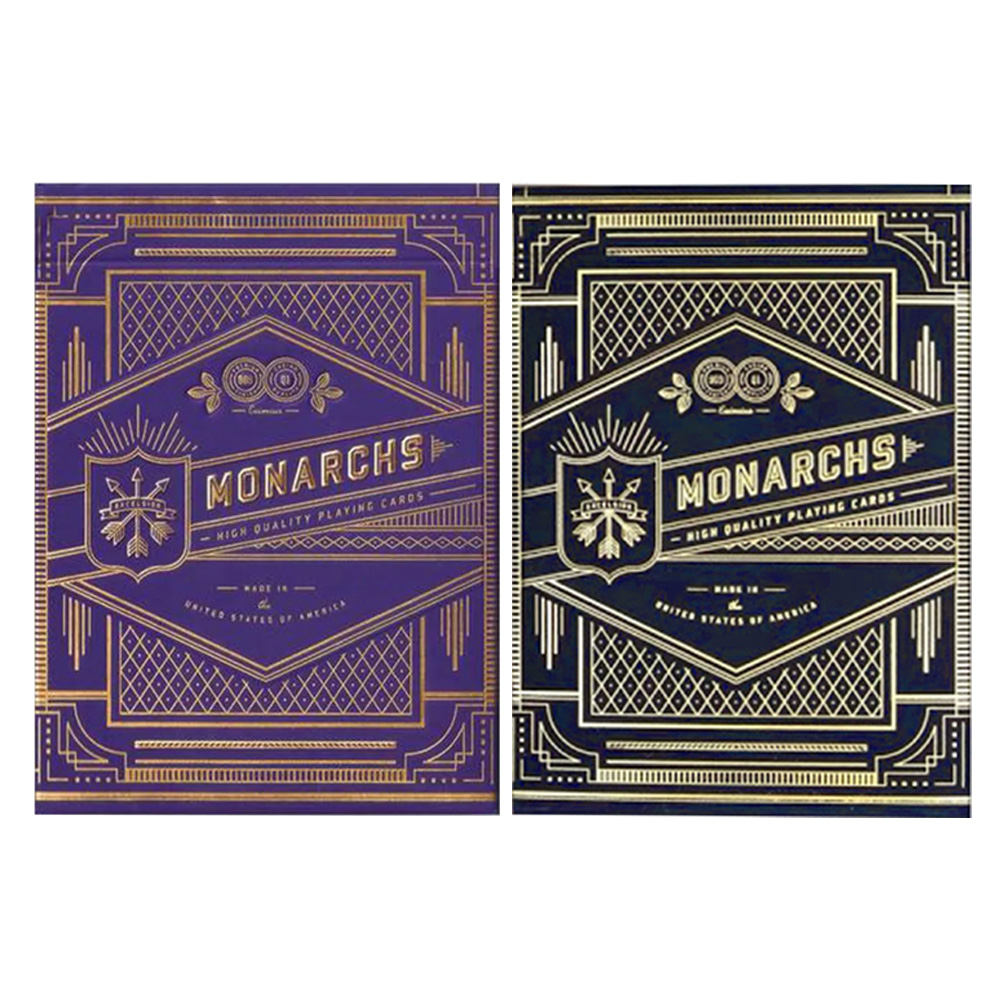Baralho Bicycle Monarchs Blue e Monarchs Purple ( Kit com 2 baralhos )