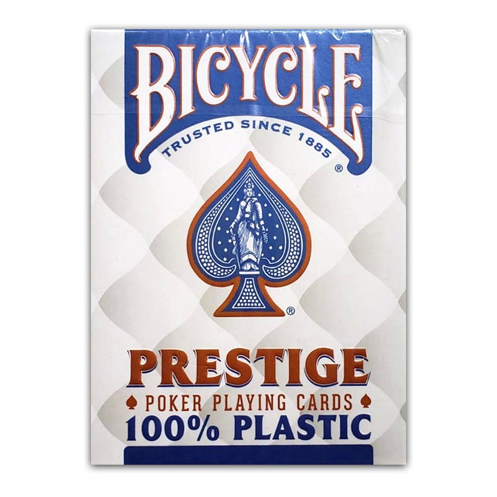 Baralho Bicycle  Prestige 100%  Plastico Azul