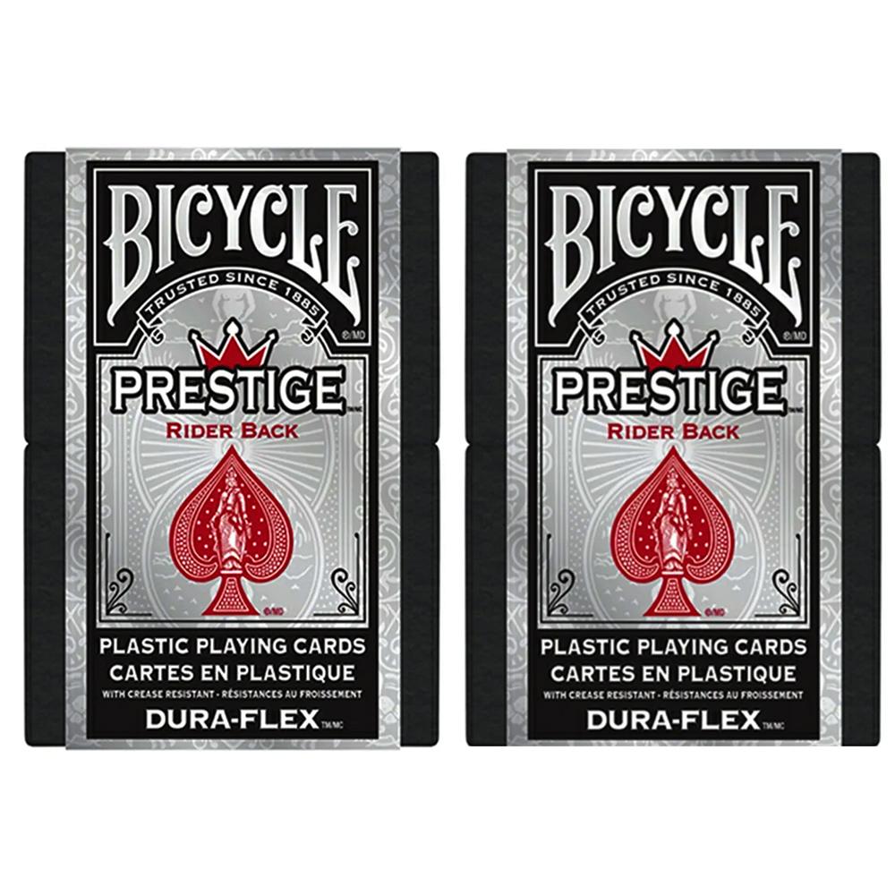 Baralho Bicycle  Prestige Dura-Flex 100%  Plastico Vermelho - Par