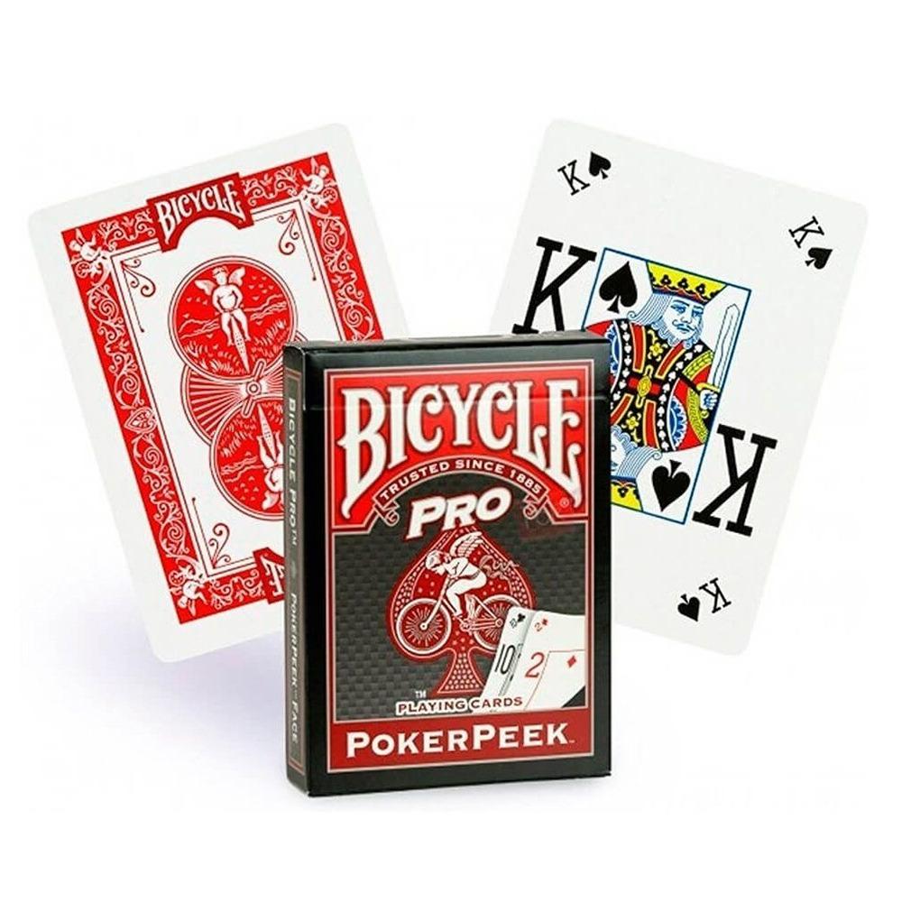 Baralho Bicycle Pro Poker Peek Vermelho