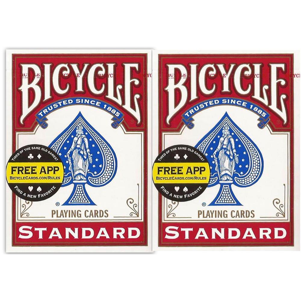 Baralho Bicycle Standard Index Par Vermelho