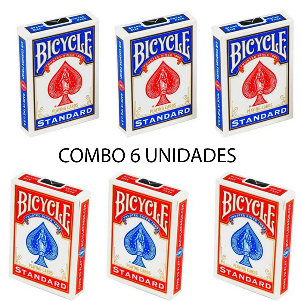 Baralho Bicycle Standard Red & Blue (06 Decks)