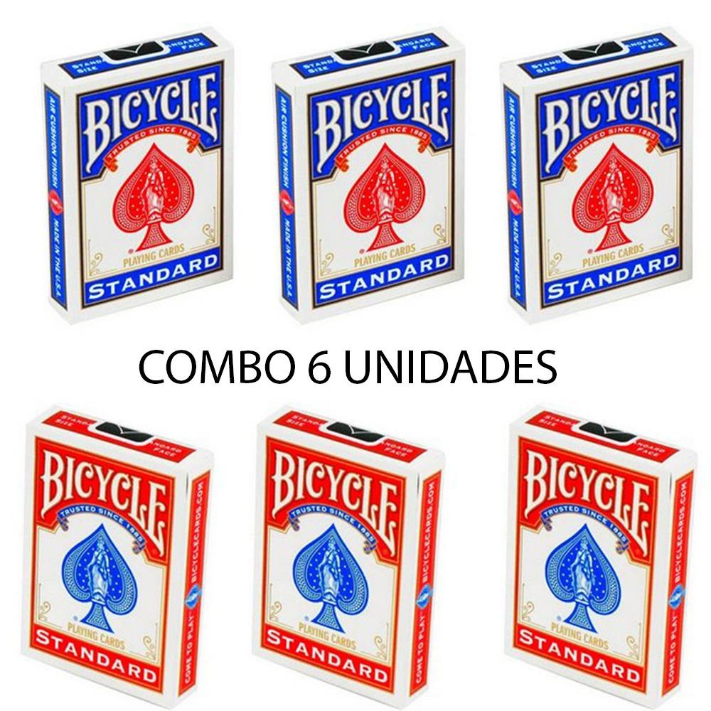 Baralho Bicycle Standard Vermelho & Azul (06 Decks)