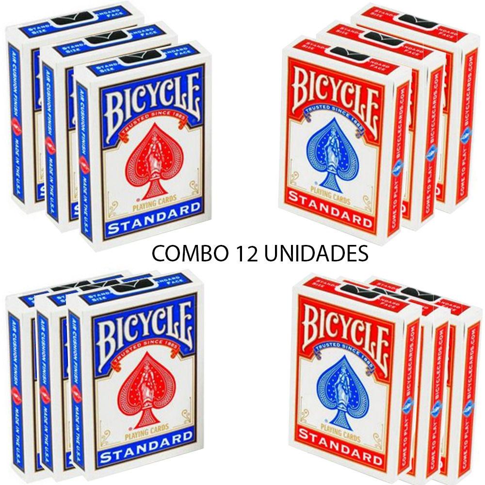Baralho Bicycle Standard Vermelho & Azul (12 Decks)