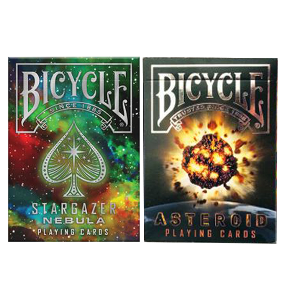 Baralho Bicycle Stargazer Nebula e Stargazer Asteroid (kit com 2 baralhos)