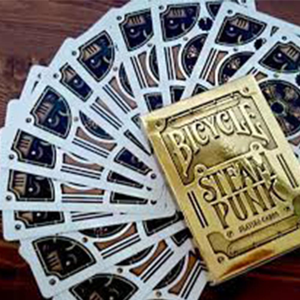 Baralho bicycle Steampunk Silver e Gold  Prata  (Kit com 2 baralhos)