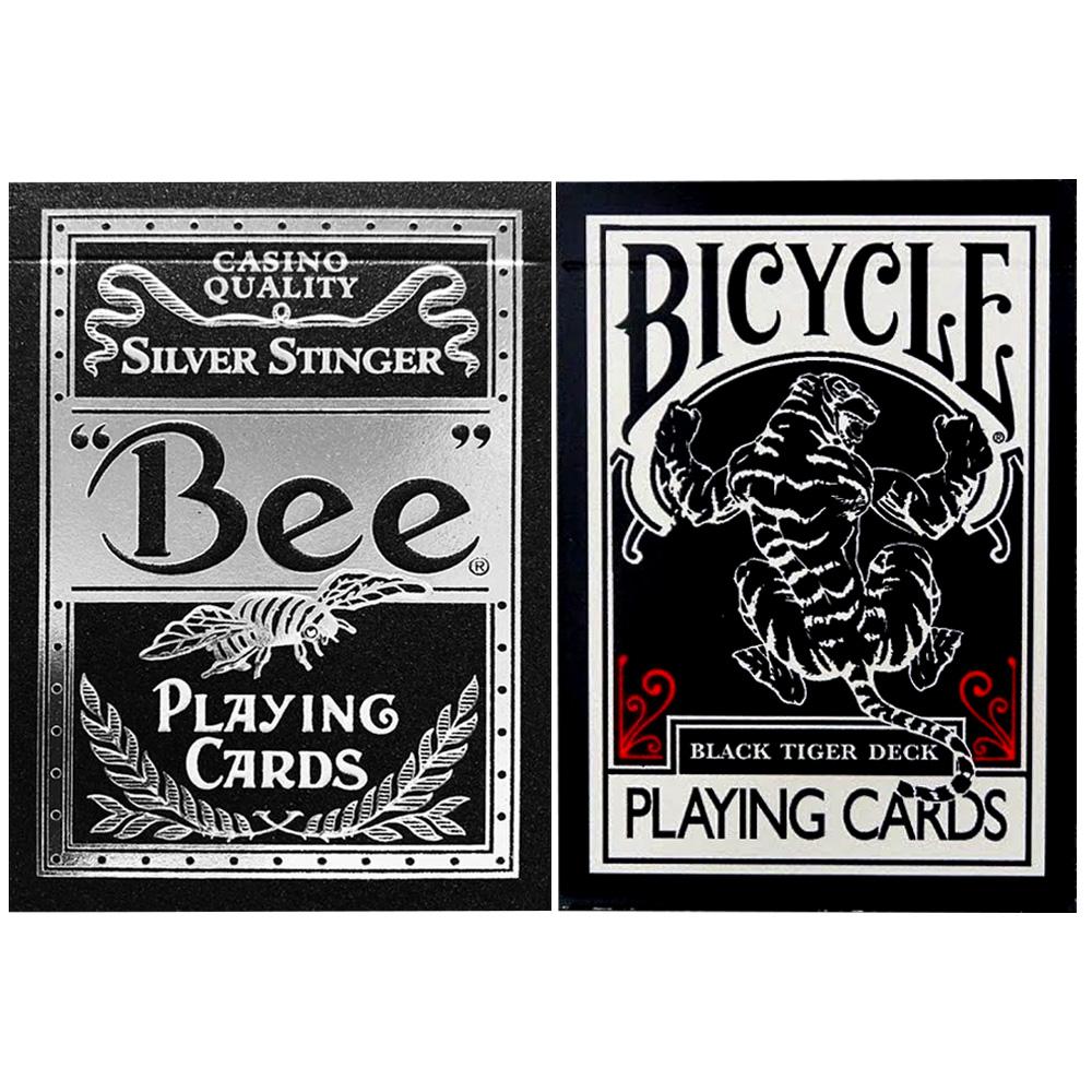 Baralho Black Tiger e Bee Silver ( Kit com 2 Baralhos )