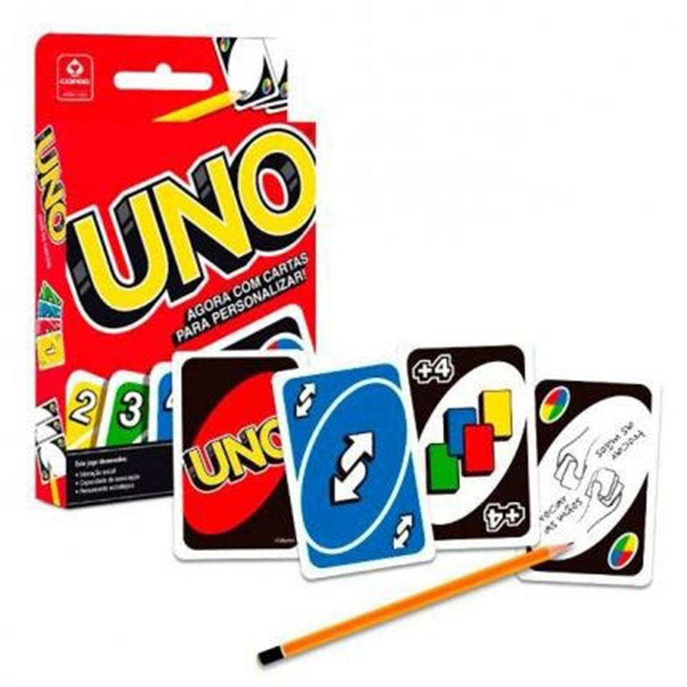 Baralho Copag 139 Tradicional Azul - Copag 139 Tradicional Vermelho e UNO ( Kit com 2 baralhos e um UNO )
