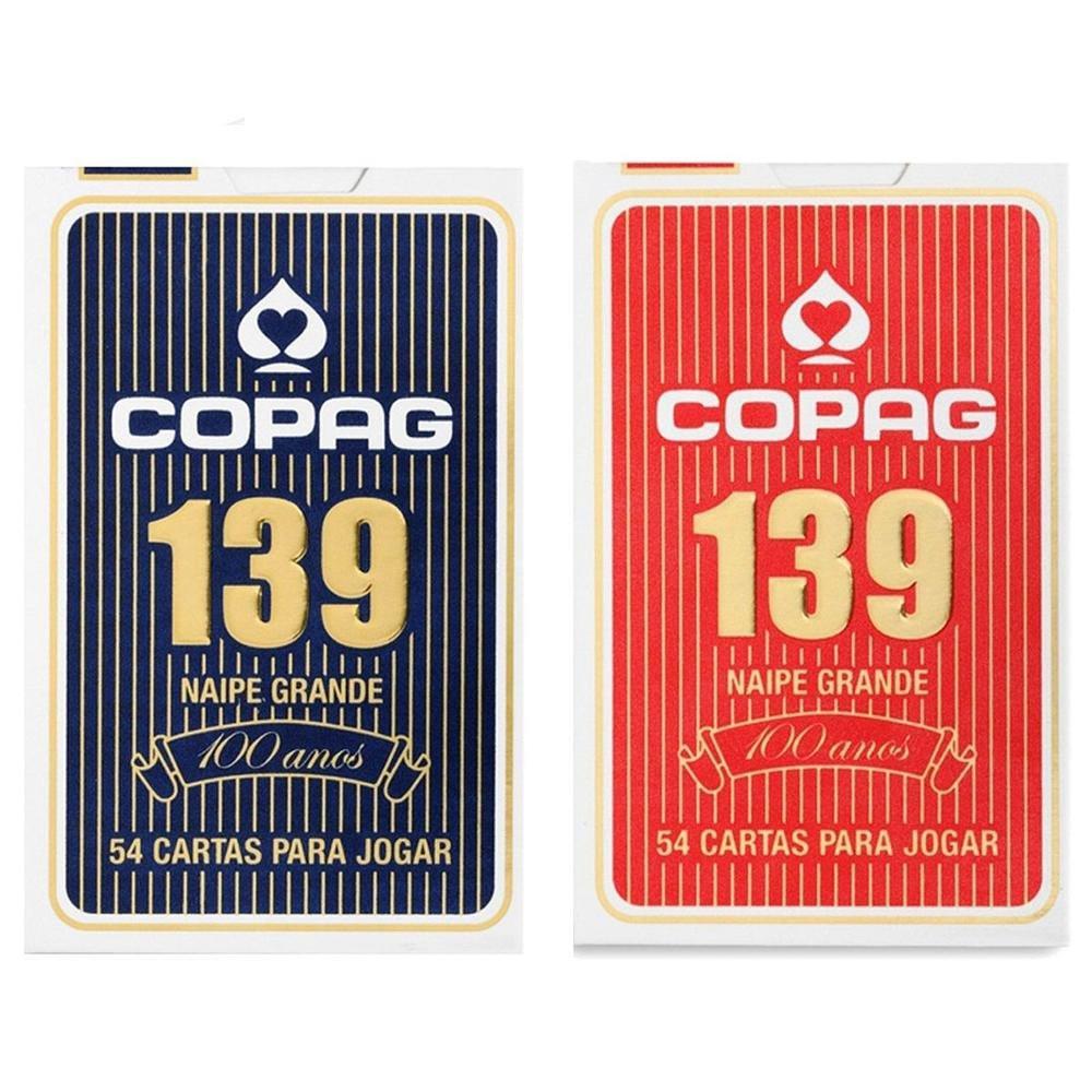 Baralho Copag 139 Tradicional Azul - Copag 139 Tradicional Vermelho ( Kit com 2 baralhos )