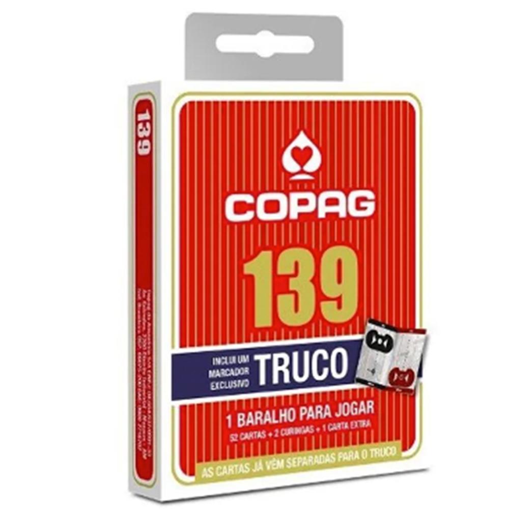 Baralho Copag 139 Truco Vermelho com Marcador de Pontos.