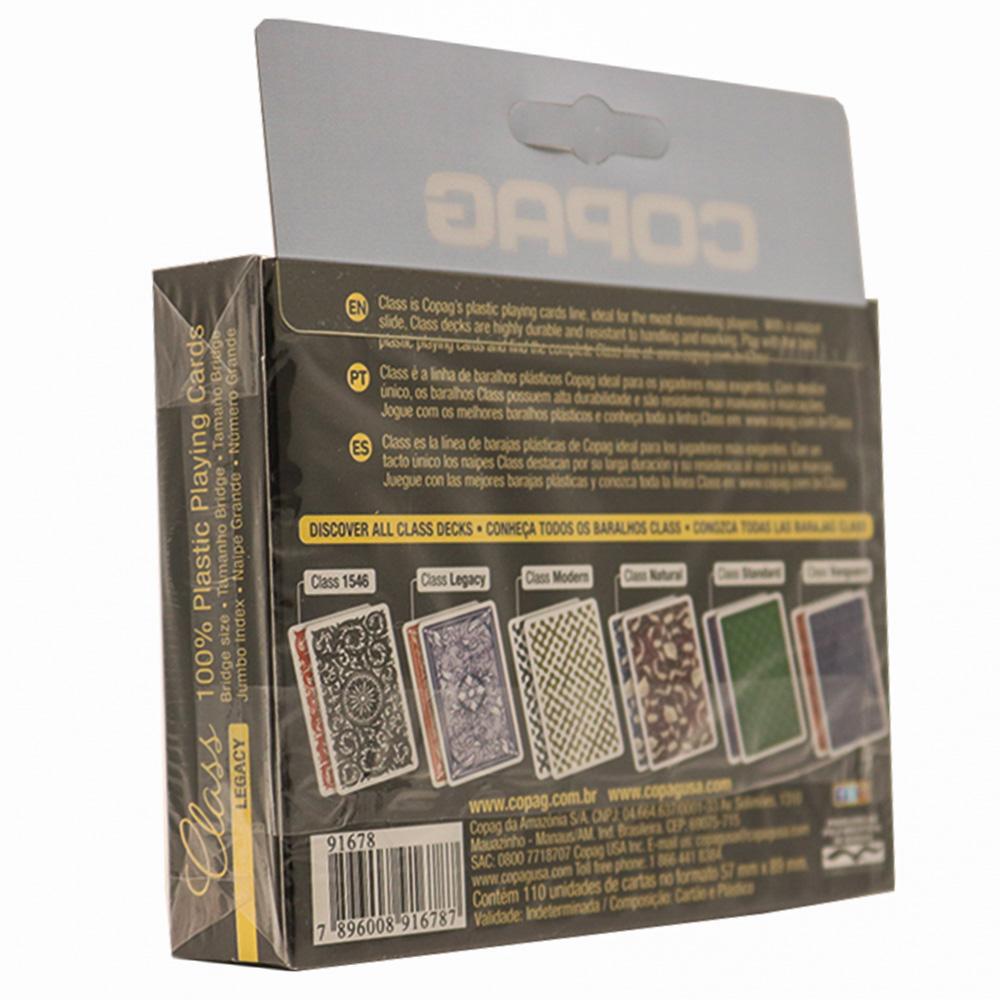 Baralho Copag Class Legacy Plástico - Naipe Grande