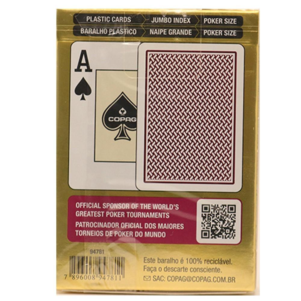 Baralho Copag de Poker  Texas Hold`Em Borgonha e Texas Hold'Em Preto ( Kit com 2 Baralhos )