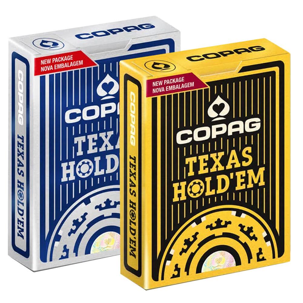 Baralho Copag de Poker  Texas Hold`Em Preto e Texas Hold'Em Azul ( Kit com 2 Baralhos )