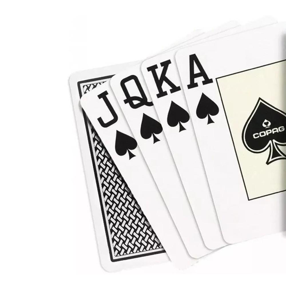 Baralho Copag de Poker  Texas Hold`Em Preto e Texas Hold'Em Dourado ( Kit com 2 Baralhos )