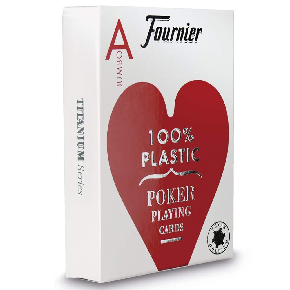 Baralho Fournier Poker 2800 plástico Index Jumbo (profissional) Vermelho