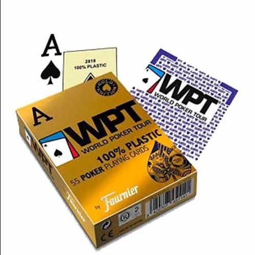 Baralho Fournier WPT Dourado Edition 100% Plástico Azul E Vermelho (Kit com 12 baralhos)