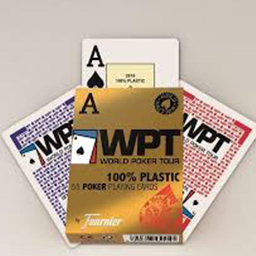 Baralho Fournier WPT Gold Edition 100% Plástico Azul E Vermelho (PAR)