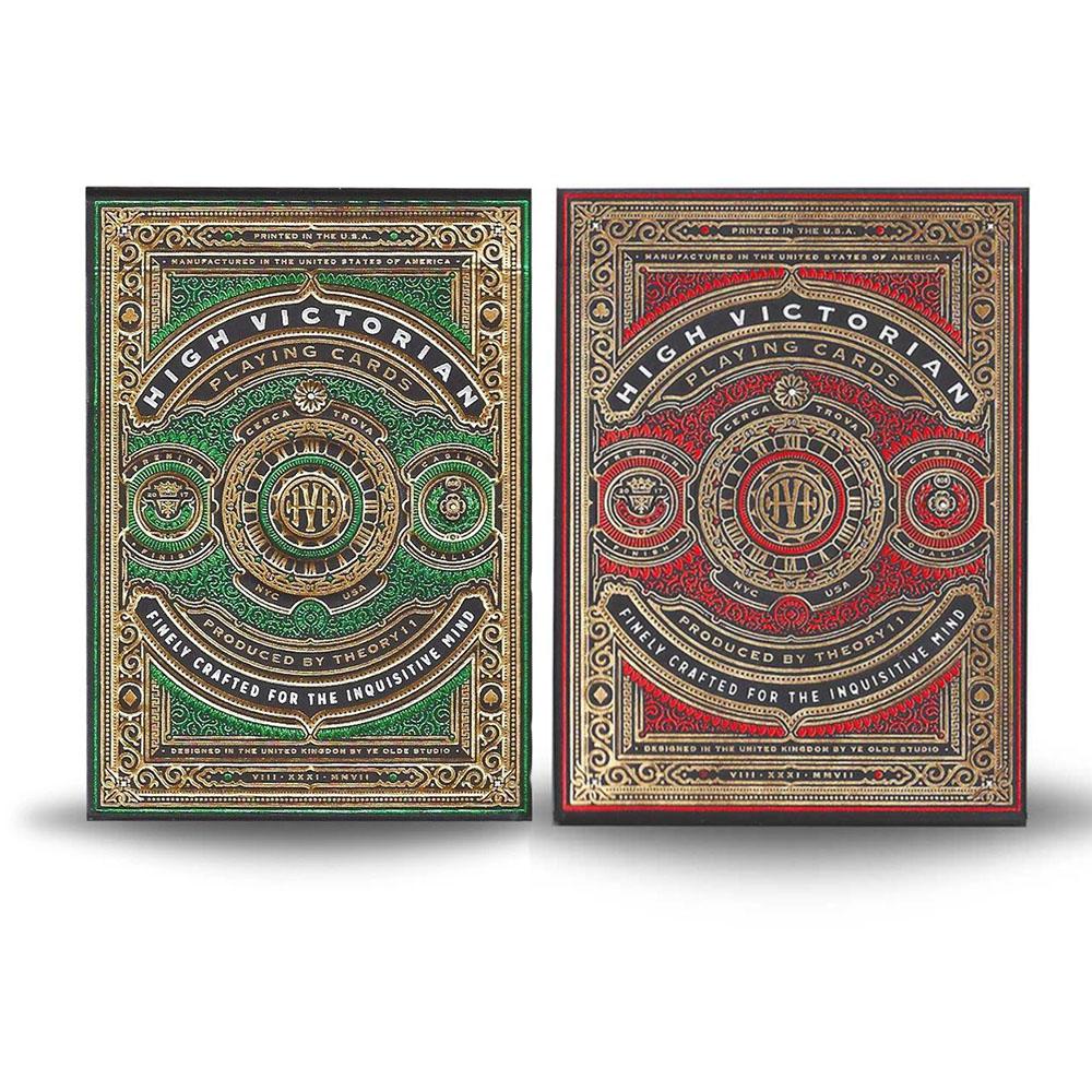Baralho High Victorian Red / Green  - Premium Deck (kit 2 de baralhos)