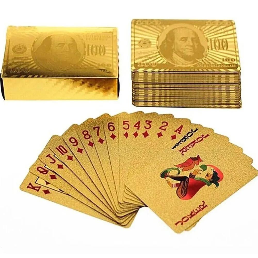Baralho Plástico Dólar Dourado