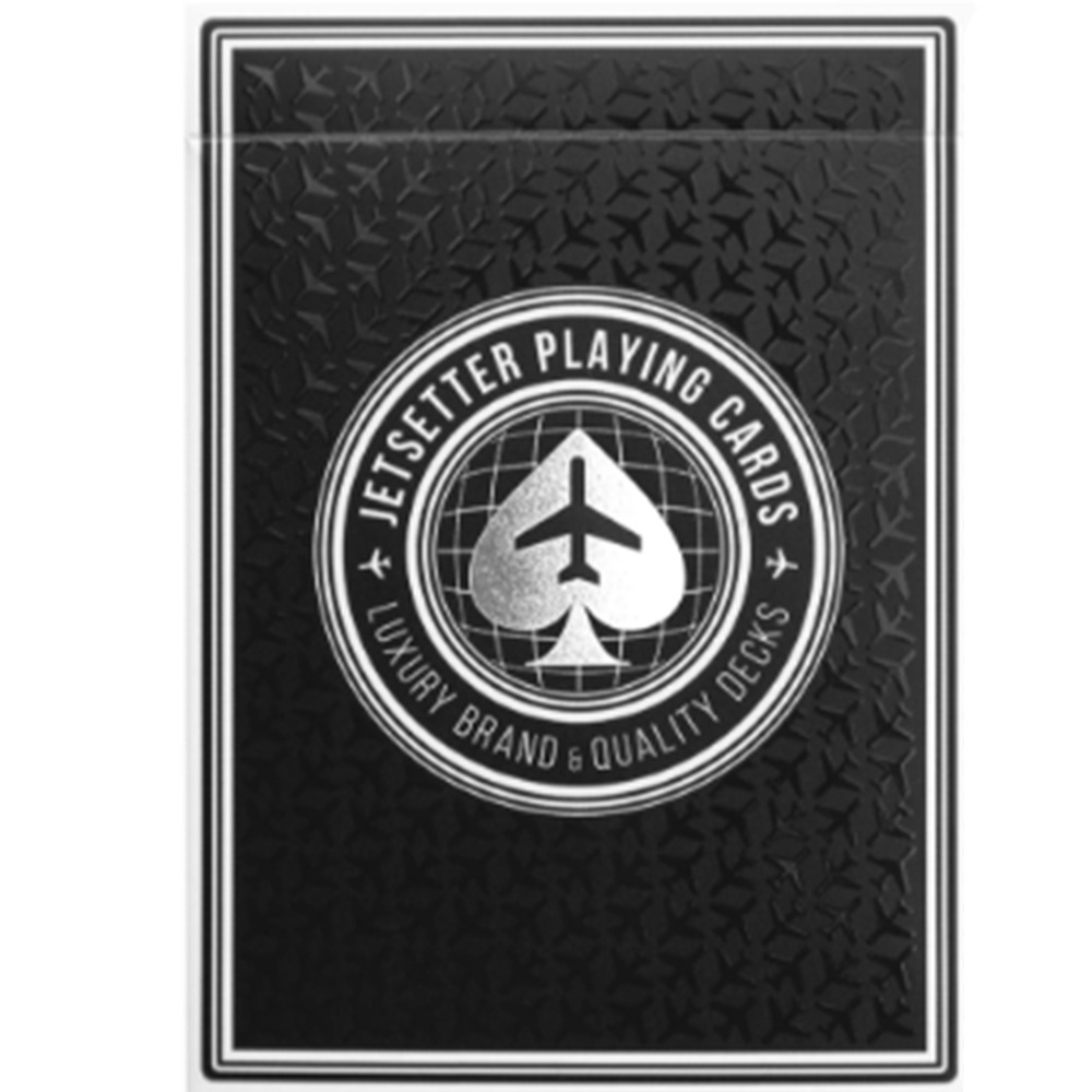 Baralho Premier deck in Jet Blank by Jetsetter Playing Cards (Private Reserve)