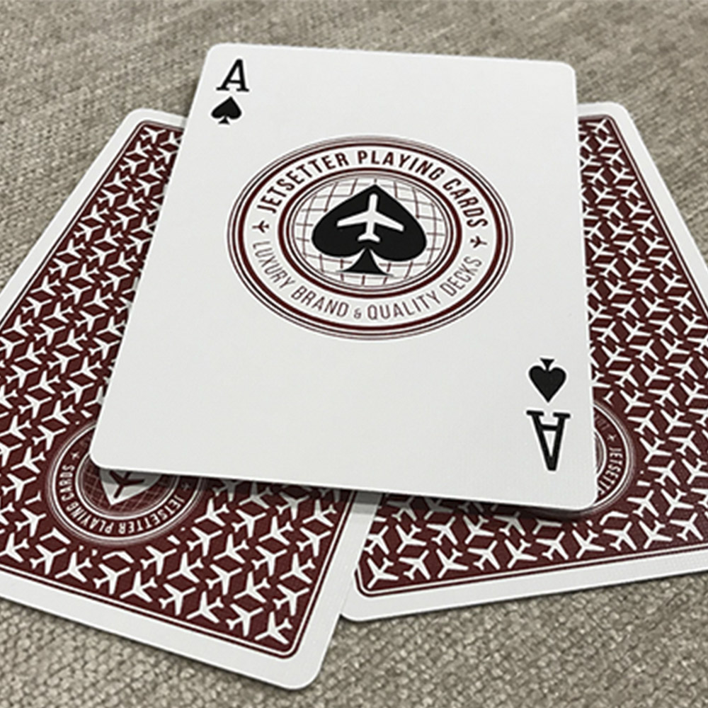 Baralho Premier deck in Restricted Red by Jetsetter Playing Cards