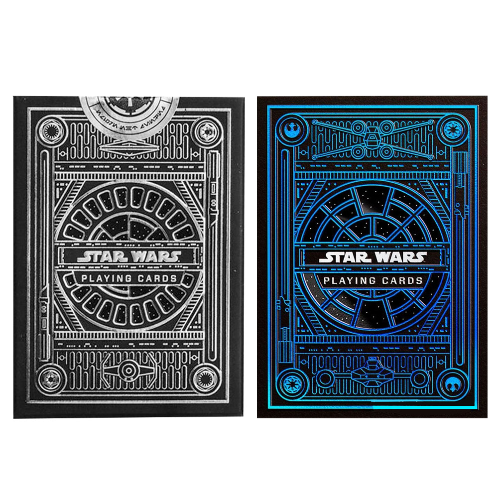Baralho Star Wars Light Side e Star Wars Preto ( Kit com 2 Baralhos )