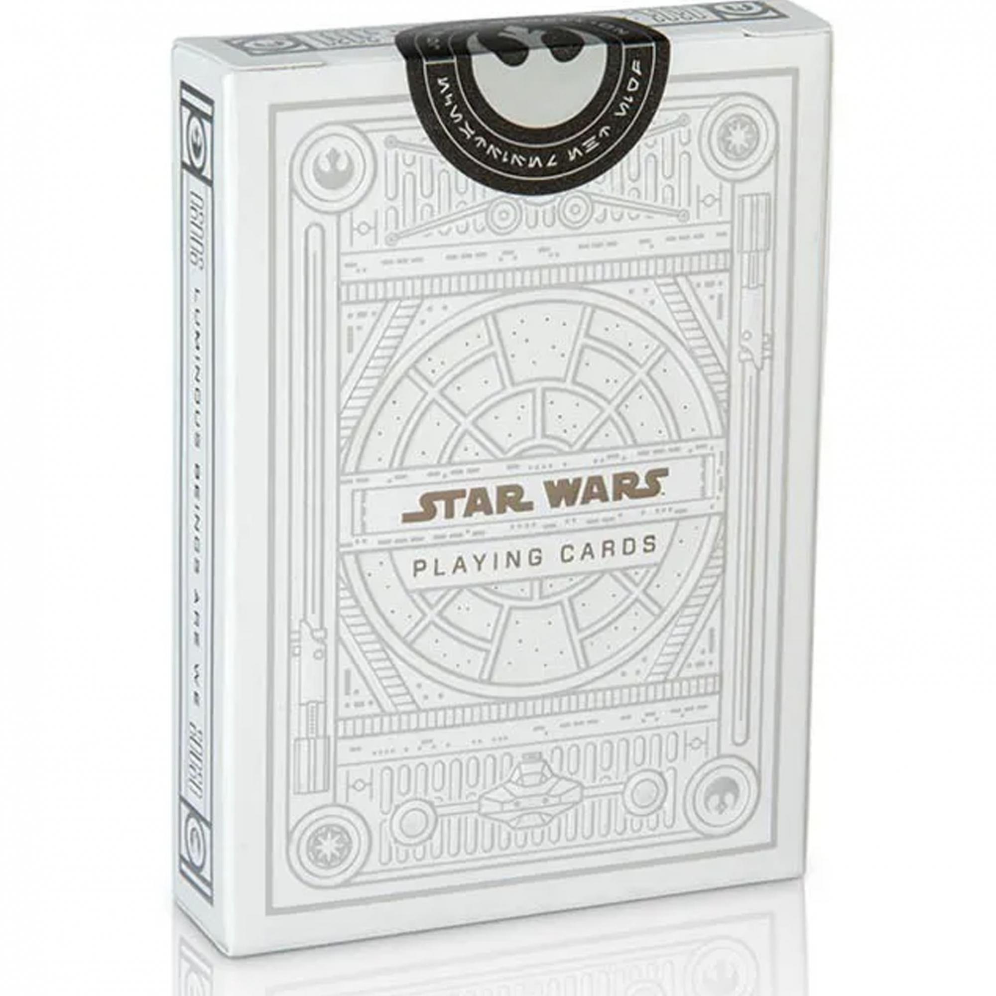Baralho Star Wars Silver Edition Branco - Edição Especial.