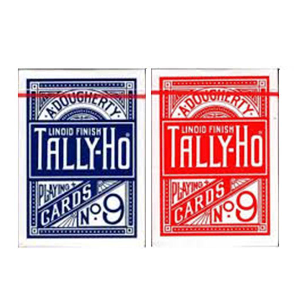 Baralho TALLY-HO Circle Vermelho e Azul (Combo 2 unidades)