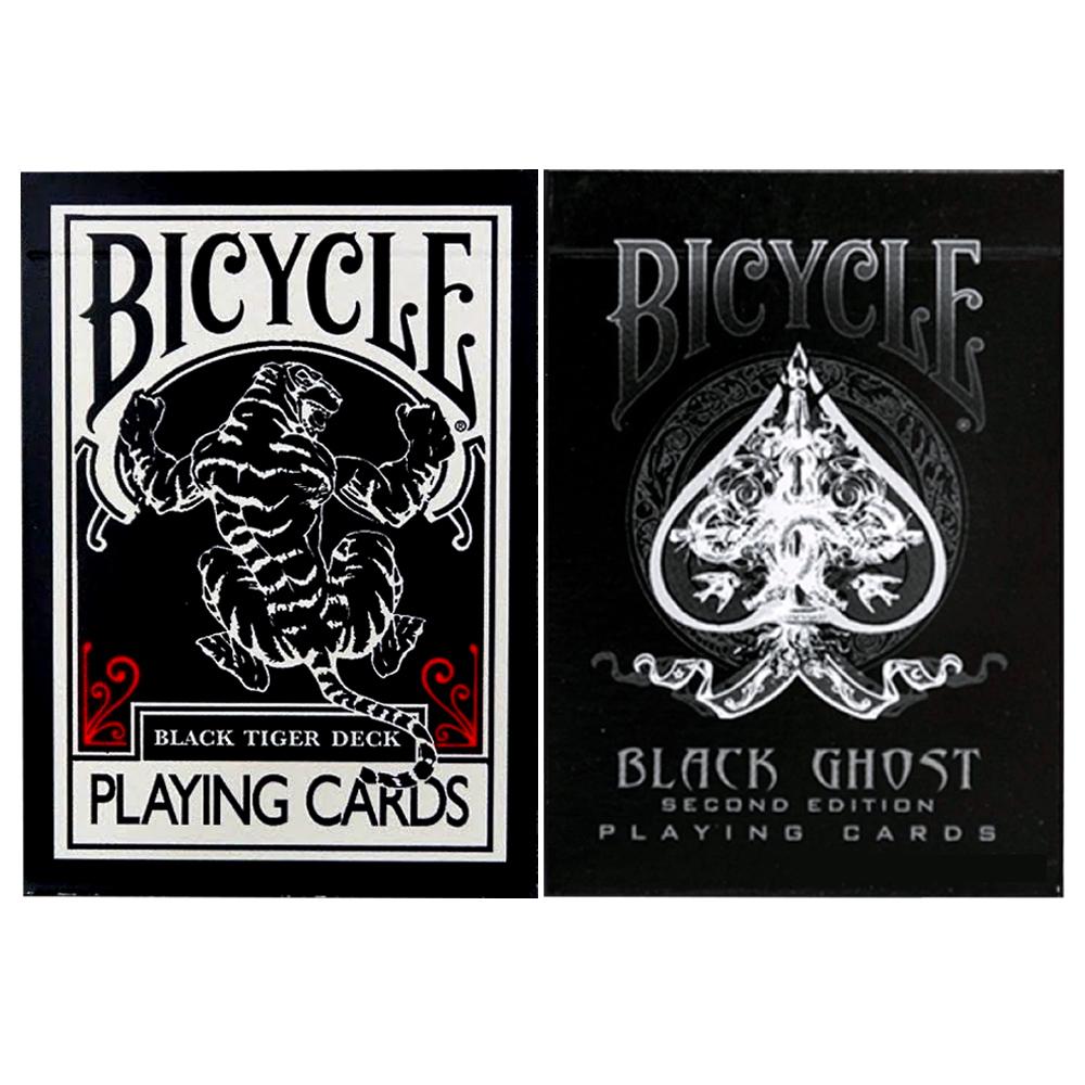 Caixa de Presente com Par de baralho Black Ghost e Black Tiger