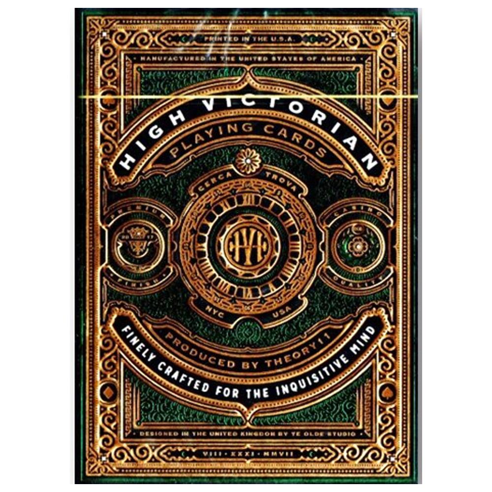 Caixa de Presente com Par de baralho High Victorian Green/Vermelho