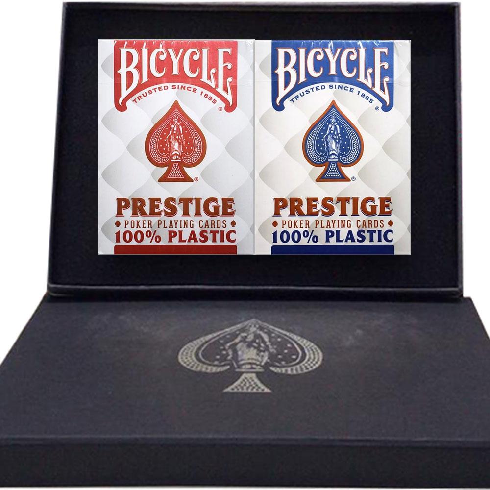 Caixa de Presente com Par de baralho Prestige 100% Plástico