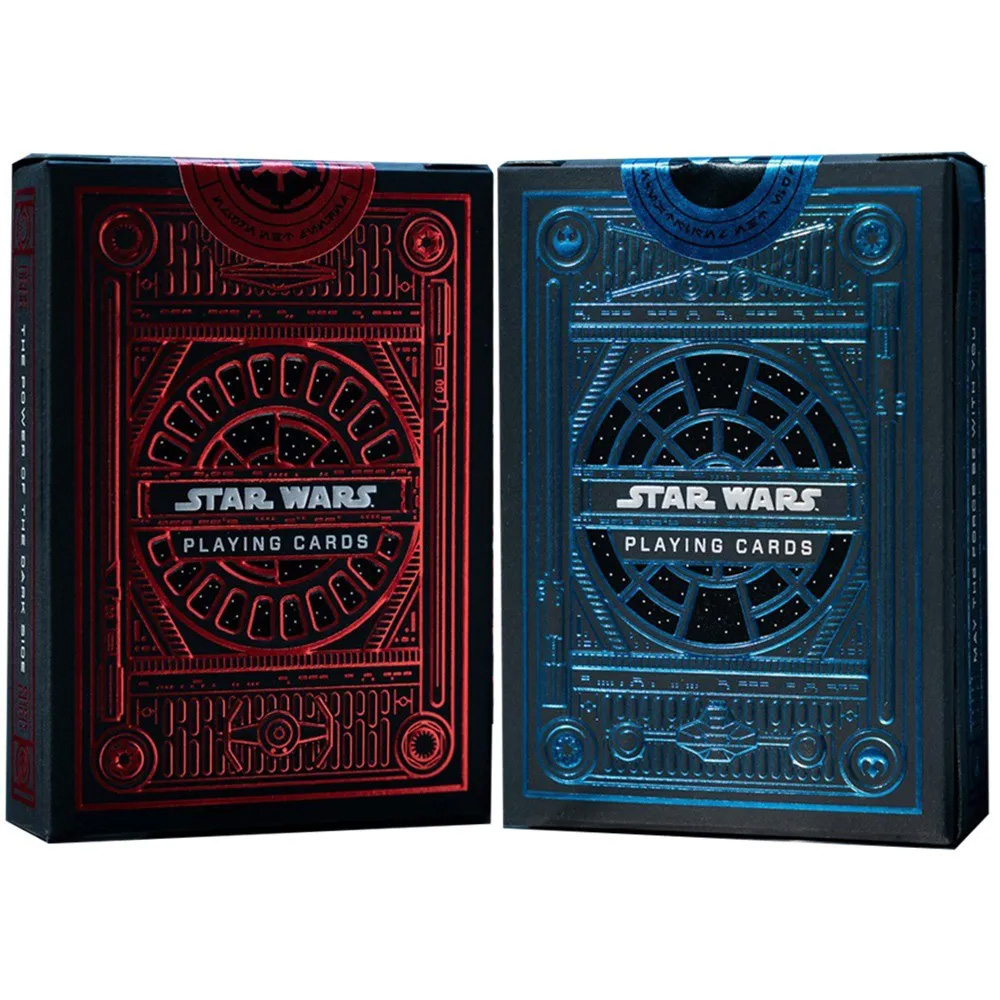 Caixa de Presente com Par de baralho Star Wars Dark e Light Side