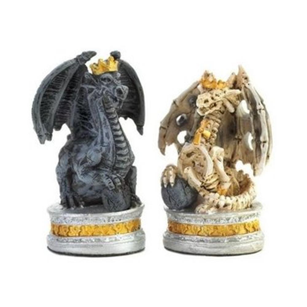 Jogo de Xadrez Era do Dragão em Resina