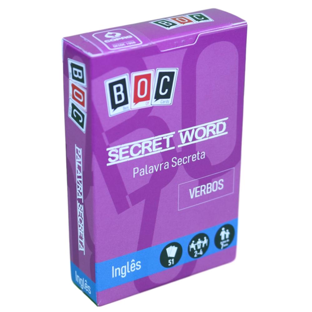 Jogos de Cartas Palavra Secreta: Verbos