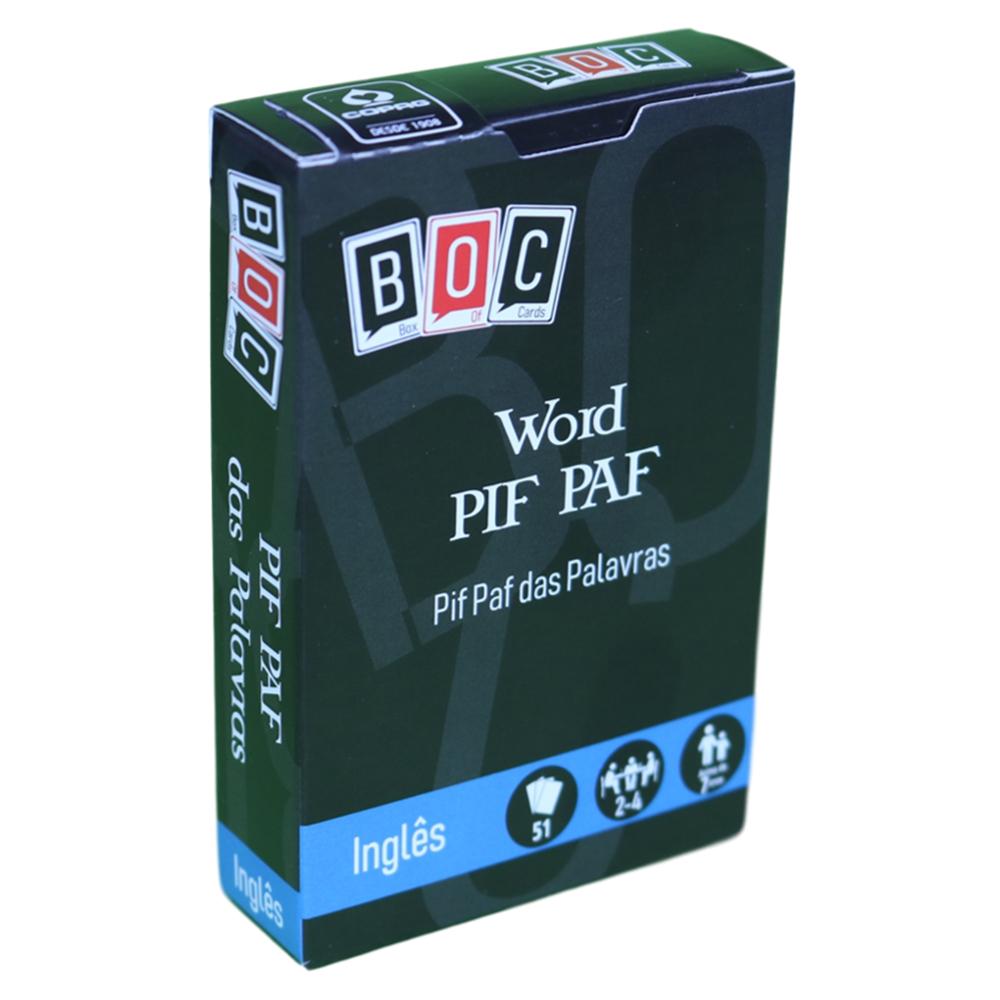 Jogos de Cartas Pif Paf das Palavras