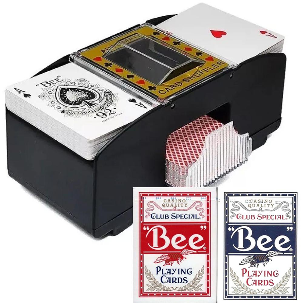 Kit Embaralhador de Baralho com Par de Bee