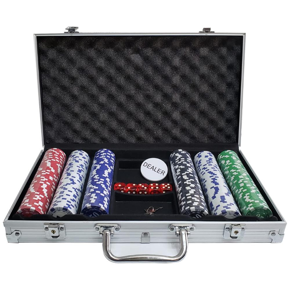 Maleta de Poker C/300 Fichas 11,5 Gr