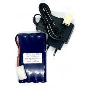 Bateria 9,6v 900mah NI-CD com Carregador 9,6v 800mah