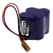 BATERIA BR-2/3AGCT4A, Backup Battery CNC GENUINE PANASONIC,  com conector CA029 (marrom)