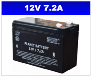 BATERIA SELADA 12V 7,2AH PLANET BATTERY