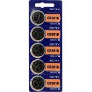 Bateria Sony CR2016 - Cartela com 5