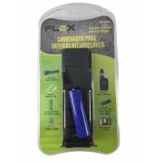 Carregador Com Bateria De Lanterna Flex fx-c08