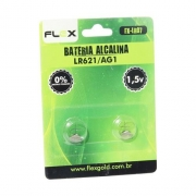 Pilha Alcalina Lr621 / Ag1 1.5V Blister Com 2 Pçs Flex Fxlr07