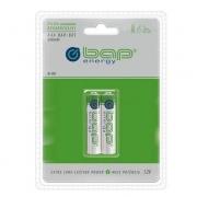 Pilha BAP-601 AAA/Recarregável/1000MAH C/2 pilhas BAP ENERGY