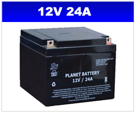 BATERIA SELADA 12v 24AH PLANET BATTERY