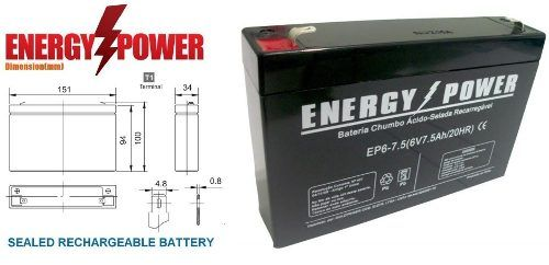 BATERIA SELADA 6V 7,2AH ENERGY POWER
