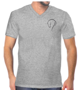 c9022af0b7 Camiseta gola V mescla com bordado cabeça cavalo lusitano